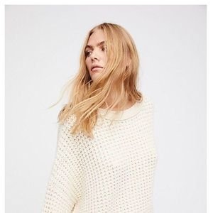 Free People Maybe Baby Ivory Crop Sweater XS